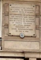 plaque commémorative hotel de bourgogne