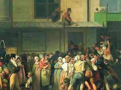 Leopold Boilly entrée de l' ambigu  comique